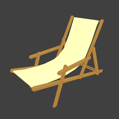 椅子の3Dモデル